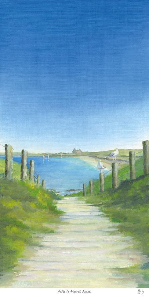 Path To Fistral Beach Art Print