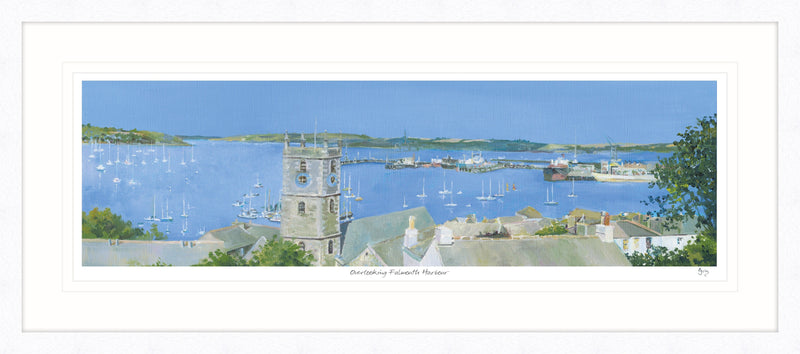 Overlooking Falmouth Harbour Framed Print