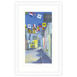 Padstow Bunting Framed Print