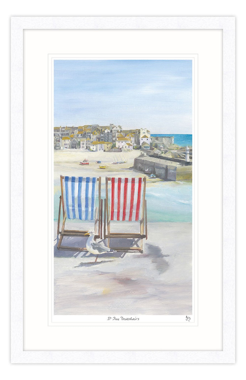St Ives Deckchairs Framed