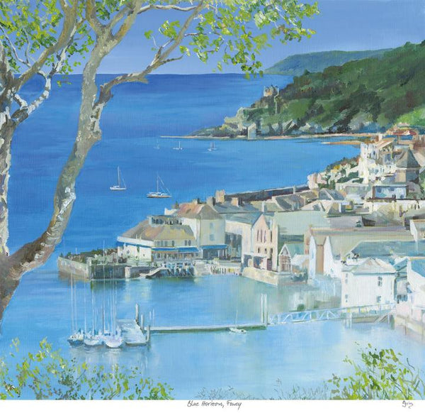 Blue Horizon, Fowey Large Art Print