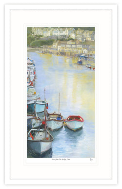 View From The Bridge, Looe Framed Print