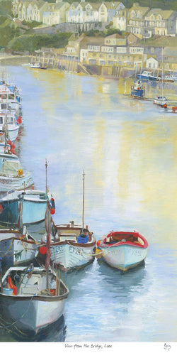 View From The Bridge, Looe Art Print