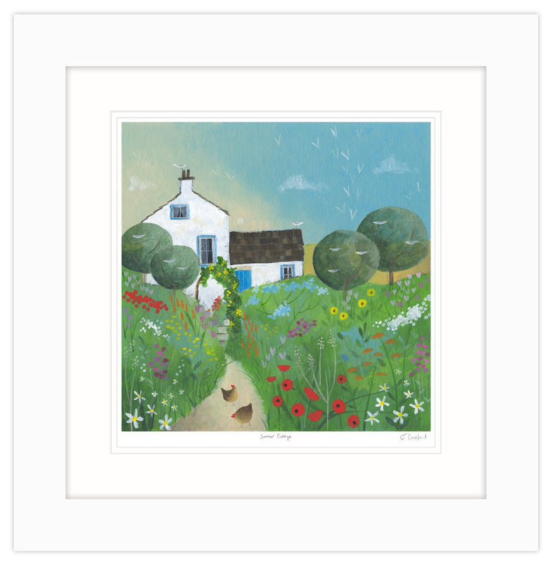 Summer Cottage Framed