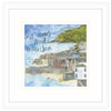 All Roads Lead To The Sea, Fowey Framed Print