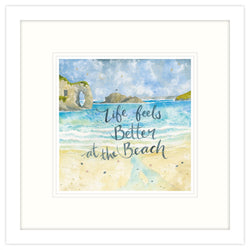 Life Feels Better Framed Print
