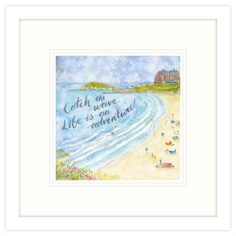 Catch The Wave Framed Print