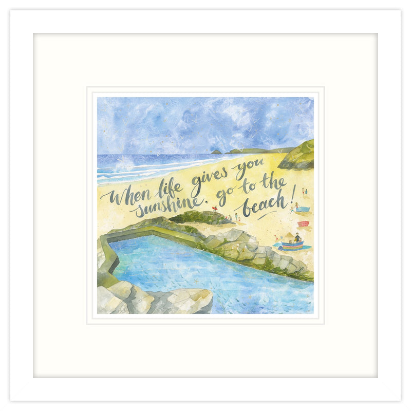 When Life Gives You Sunshine Framed Print