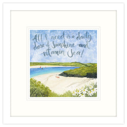 Dose Of Sunshine And Vitamin Sea Framed Print