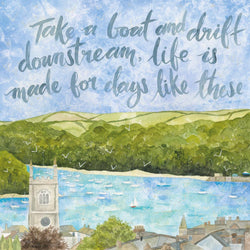 Take A Boat And Drift Downstream Art Print
