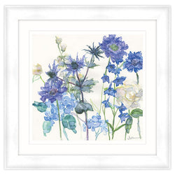 Sea Holly and Larkspur Framed Print