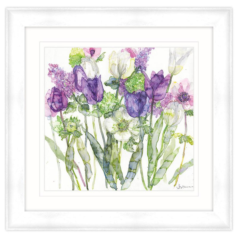 Tulips, Lilacs & Anemone Framed Print