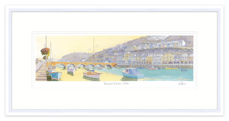 Summer Dawn Looe Framed