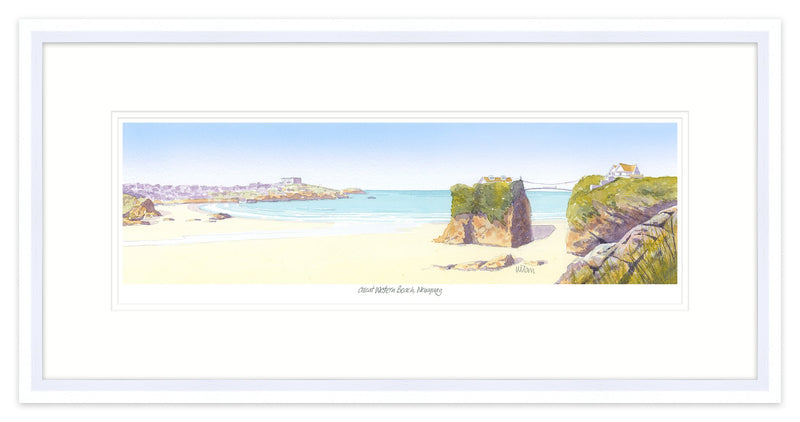 Great Western Beach Framed
