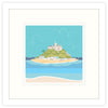 Colourful St Michaels Mount Framed Art Print