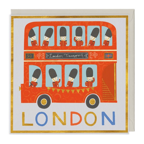 London Bus Greeting Card