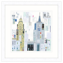 Empire State New York Framed Art Print