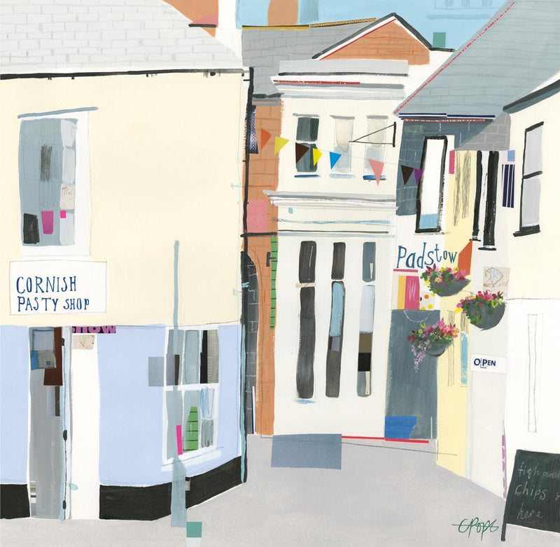 The Strand Padstow Art Print