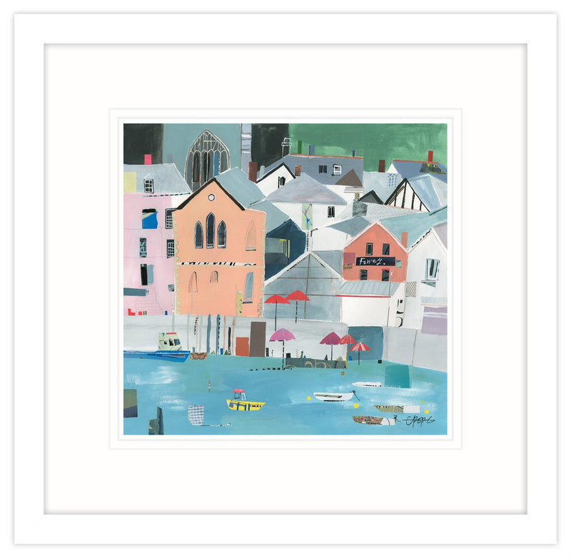 Town Quay Collage Framed Print