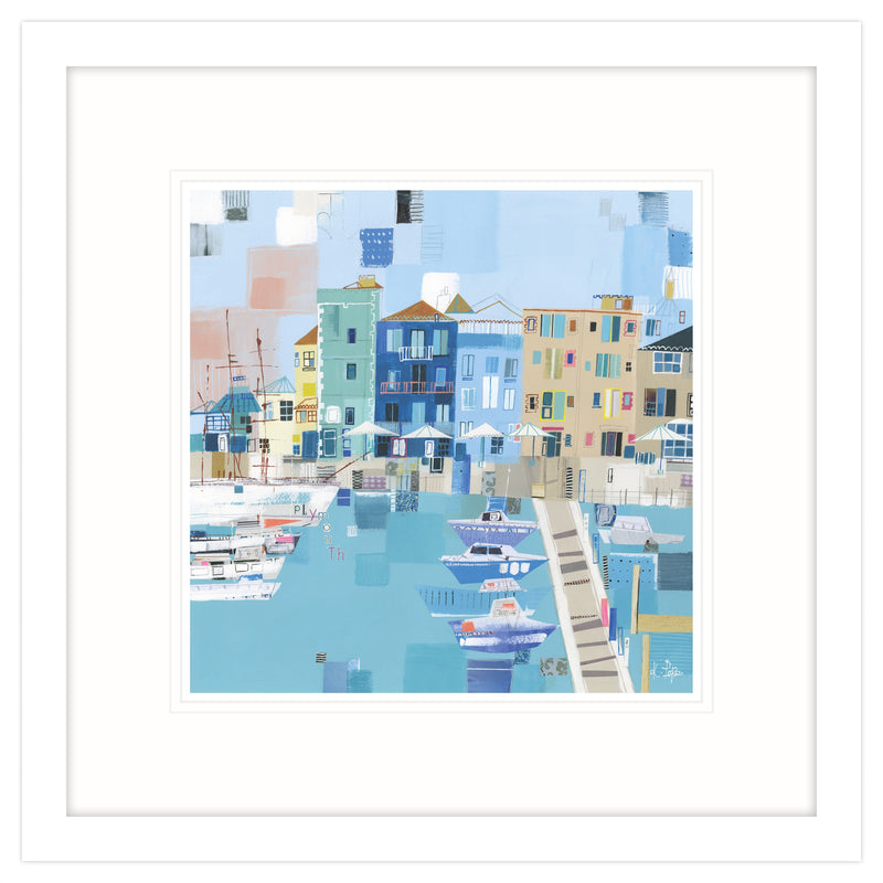 Plymouth Patchwork Framed Print