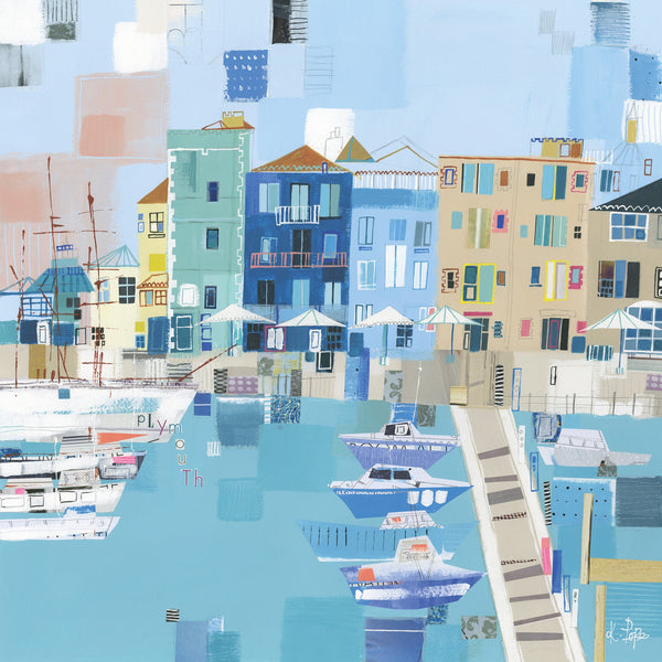 Plymouth Patchwork Art Print