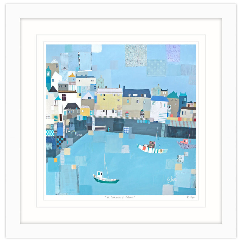 Patchwork Padstow Framed