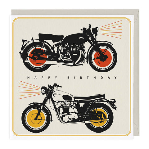 Motorbikes Happy Birthday Card