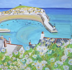 Daisies and St Ives Print