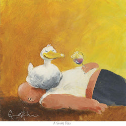 A Sitting Duck Art Print