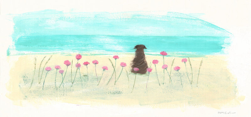 Dog In The Sea Pinks Print
