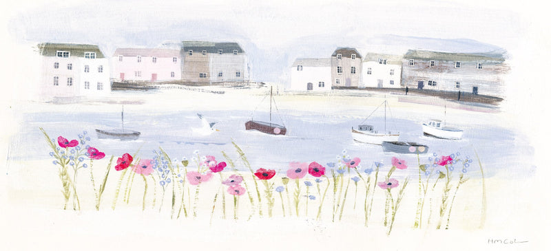 Harbour Poppies Print