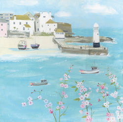 Flowers Above St Ives Print