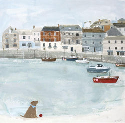 Padstow Harbour Boats Print
