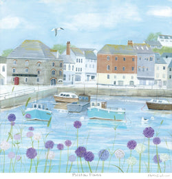 Padstow Flowers Art Print Small