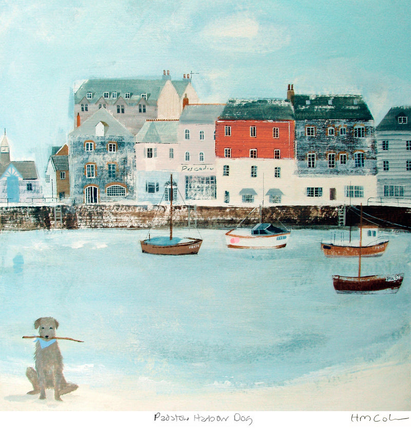 Padstow Harbour Dog Print