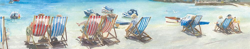 Row of Deckchairs Print