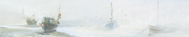 Boats in the Fog Print