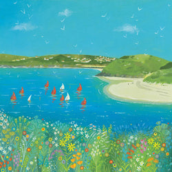 Sailing at Padstow Art Print