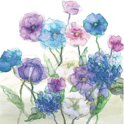 Poppies & Hydrangeas Print