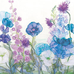 Poppies, Delphiniums & Sweetpeas Print