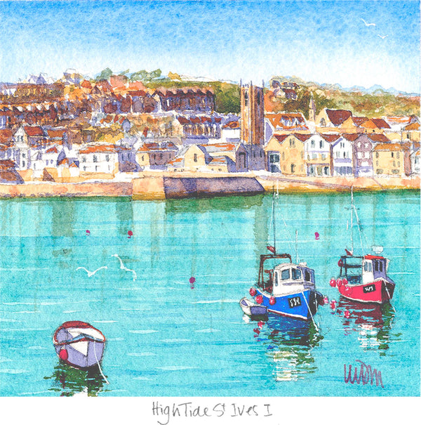 High Tide St Ives 1 Print