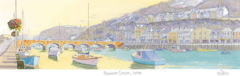Summer Dawn Looe Print