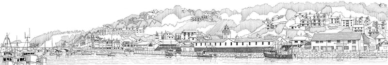 Waterfront Looe Print