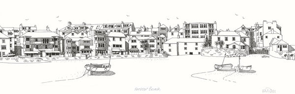 Harbour Beach St Ives Print