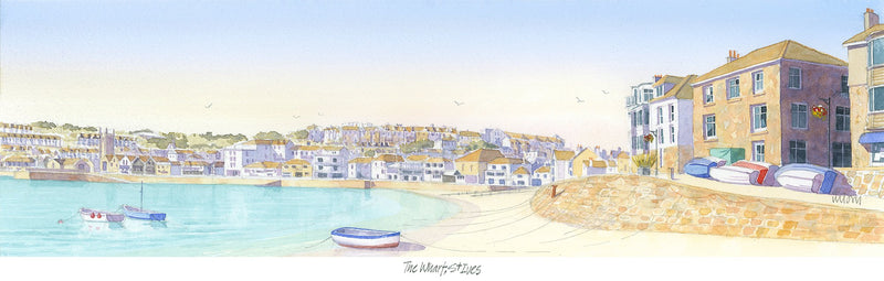 The Wharf St Ives Print