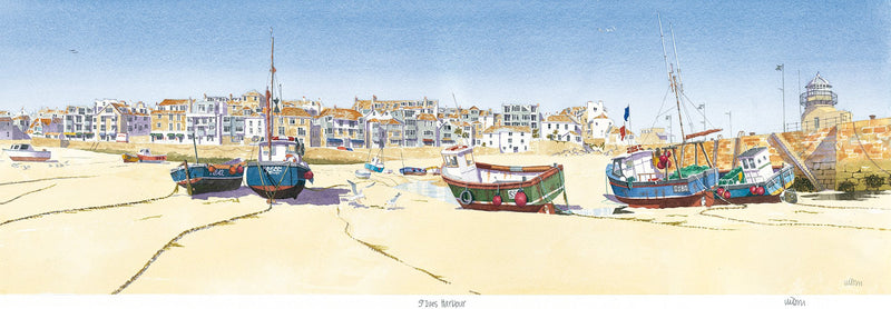 St Ives Harbour Print