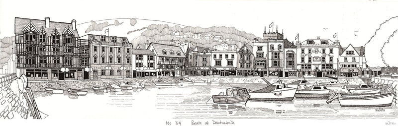 Boats at Dartmouth Print