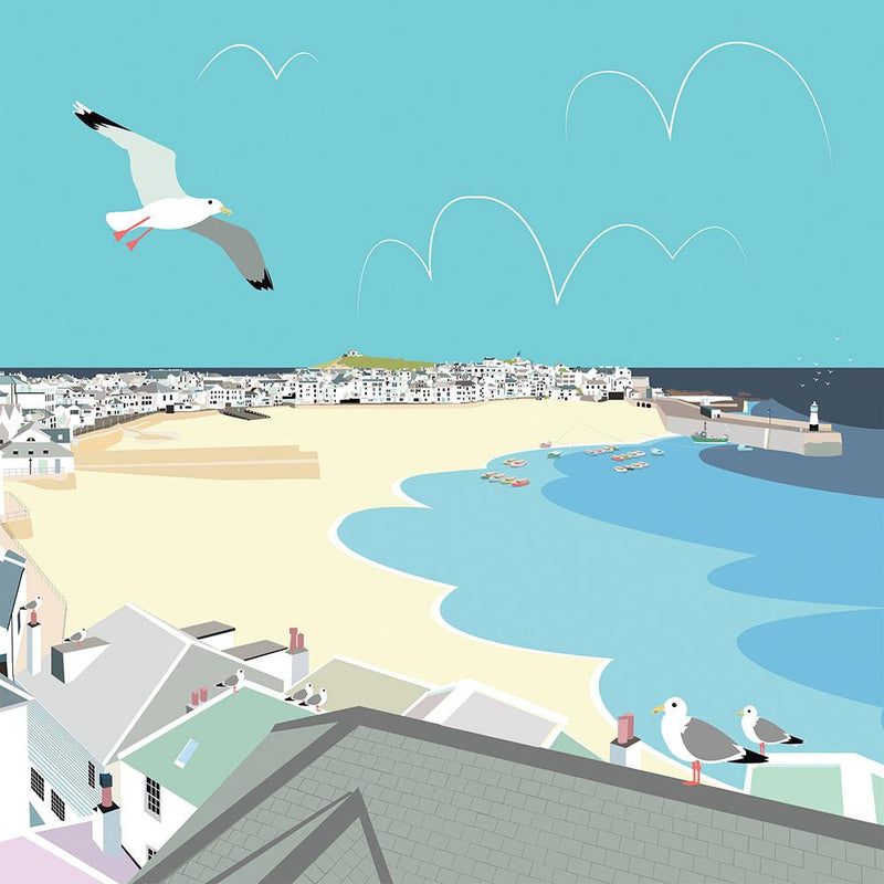 Colourful St Ives Art Print