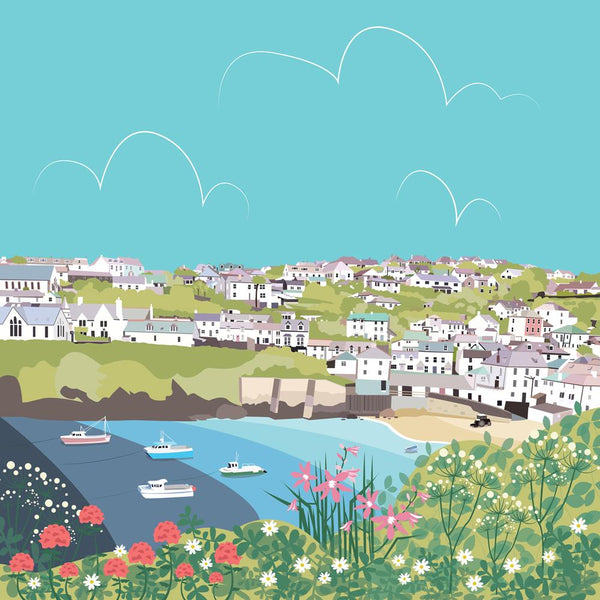 Port Isaac Coastal Art Print