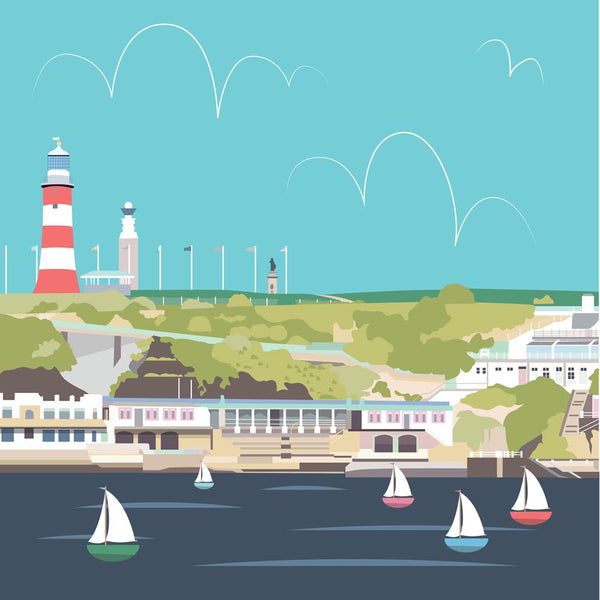 Plymouth Coastal Art Print
